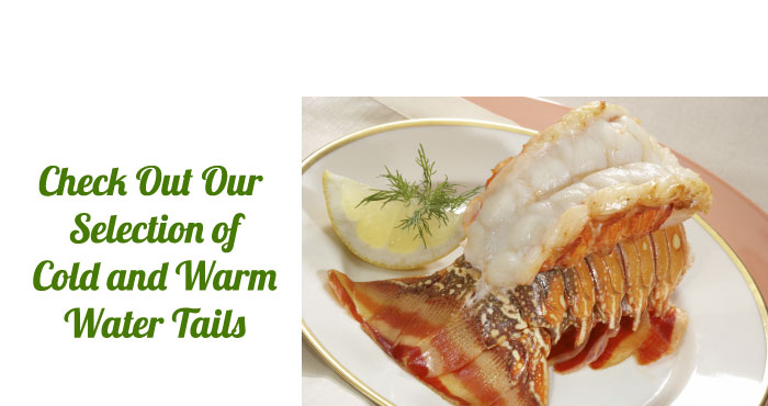 warm water and cold water lobster tails